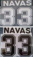 letras de plástico vintage al por mayor-1997 1998 Udinese retro impresión en blanco nombres de fútbol # 33 NAVAS letras de estampado negro del jugador impreso plástico vintage fútbol pegatinas