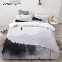 Wholesale painting quilts for sale - Group buy 3D Bedding Set Custom King Europe USA Queen Duvet Cover Set Quilt Blanket Cover Set Ink painting Bedclothes Drop Ship