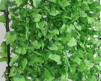 ingrosso piante di plastica di edera fiori-2019 Artificiale Edera Foglia Ghirlanda Piante Plastica verde lungo Vine Falso Fogliame fiore Home decor Decorazione di nozze