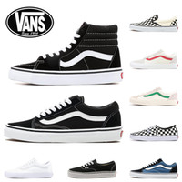 segeltuchschuhe für männer groihandel-2020 New Vans Classic old skool black white FEAR OF GOD red buble canvas mens sport sneakers fashion Designer casual shoes 36-44