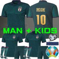 camisa de futebol venda por atacado-HOMEM + KIDS 2019 2020 ITALY Europeia Copa de futebol Jersey 19 20 verde escuro JORGINHO EL Shaarawy Bonucci INSIGNE BERNARDESCHI camisas de futebol