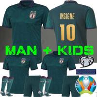 ingrosso tazza di calcio jersey-MAN + KIDS 2019 2020 ITALIA Coppa Europa di calcio Jersey 19 MAGLIE CALCIO 20 verde scuro Jorginho El Shaarawy BONUCCI INSIGNE Bernardeschi