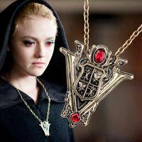 Wholesale twilight pendants resale online - Movie Necklace Timeless classic Twilight Saga Eclipse Necklace Pendant New Moon Volturi Crest Jewelry Women Gift Vintage Necklaces