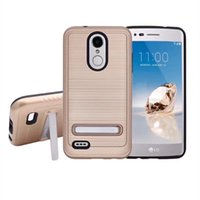 Wholesale micromax phones online – custom For Nokia Micromax T55 C Plus With kickstand Brushed Metal Dual Layer Hybrid Shockproof Bumper Protection Phone Case cover