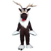 Wholesale reindeers costume resale online - 2019 factory sale Reindeer long hair quality Mascot cartoon factory physical photos quality guaranteed welcome buyers to the evaluation a