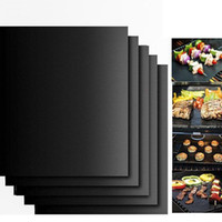 backofenreinigung groihandel-Barbecue Grill Mat Reusable Barbecue Grill Mats Thick Mikrowelle Grill Blatt Baking Roast Blatt Easy Clean Non-stick Grillwerkzeug LQPYW1172