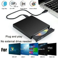 Wholesale notebooks for sale - Group buy Portable External CD DVD Drive Burner USB For Laptop Notebook Computer Mac Win