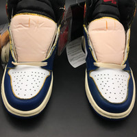 Wholesale red basketball high top shoes for sale - Group buy Union x Air High OG NRG Red Blue BV1300 s I Women Men Basketball Sports Shoes Sneakers Top Quality With Original Box