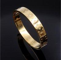 rosé vergoldeter edelstahl großhandel-Neue Ankunft Top Qualität Gold / Silber / Rose Gold Bangles Schwarzes Gold Überzogenes Armband Edelstahl Armbänder