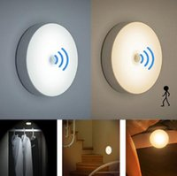 Wholesale LED intelligent human body induction small night light corridor bedroom charging small night lamp to light a night light automatically