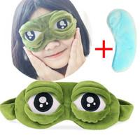 Wholesale funny cartoon masks for sale - Group buy 1 Cute Cartoon Eyes Cover The Sad D Eye Mask Cover Sleeping Rest Sleep Anime Funny Gift Blinder Tools Jan08