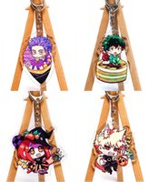 Wholesale hero decor for sale - Group buy 1pc My Hero Academia Pendant Bag Decor Anime Cartoon Pattern Keychain Cosplay Prop Keyring Collection for Women Men Gifts