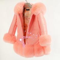 çocuklar sahte kürk giysileri toptan satış-Yüksek Kaliteli Çocuk Ceketler Coat Kızlar Kış Faux Kürk Palto Bebek Kız Giysileri Kış Kalın Coat Çocuklar Sıcak Giyim 3 renk
