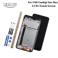 umi phone großhandel-ocolor Für UMI Umidigi One Max LCD-Display und Touchscreen + Rahmen + Werkzeuge und Klebstoff Für UMI Umidigi One Max Telefonzubehör