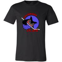 logotipo de academia unisex venda por atacado-Columbus Owls Ihl Retro Hockey Jersey Logo Throwback Ohio Unisex T-Shirt Gym Camiseta