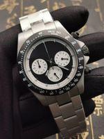 pvd de aço inoxidável venda por atacado-2019 Novo estilo de edição limitada clássico Designer relógios em aço inoxidável de titânio PVD função Relógios varredura cronógrafo japonês VK quartzo