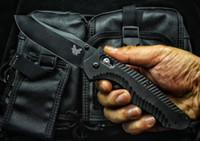 cuchillos recubiertos de titanio al por mayor-Cuchillo táctico plegable de gama alta 810-K mariposa D2 Hoja de titanio recubierto de titanio G10 Mango Herramienta de camping Gear BENCHMADE Pocket BM3310 42 Cuchillo