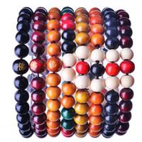 frühling 8mm großhandel-100pcs 8mm Buddha Perlenarmband bunte koreanische Version des beliebten Einzelringes Buddha Perlen Holzperlen Armband 8 Farben sind optional