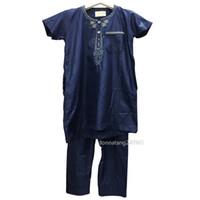 a13ff1a847 Islamic Clothing Jubba Thobe Saudi Arabiia Muslim Clothes Trousers Set  Traditional Arab Dubai Clothing for Islam 8-18 Years boy