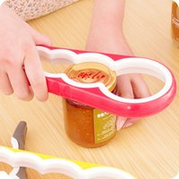 Wholesale twist jar opener resale online - jar and bottle opener creative in open cover device with non slip and twist cap can opener