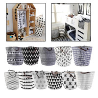 Wholesale toy bear clothes resale online - NEW Quality Dirty Clothing Laundry Basket Decoration Nursery Children Toys Can Stand Canvas Storage Bag Bearing KG Organizer