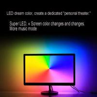 led-lichtleiste gesetzt großhandel-LED Synchron Lichtleiste Set Ambilight Display TV Hintergrund Dimmbar Dekoration 5050 IP2020 Lichtleiste