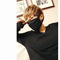 Wholesale nose men resale online - 1pcs Mouth Mask Black Cotton Blend Anti Dust and nose protection Face Mouth Mask fashion reusable Masks for Man Woman