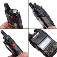jambon telsiz portatif telsiz toptan satış-50pcs PTT Baofeng BF-T1 Yeni Taşınabilir radyo yeni MINI Walkie Talkie Çift Ham radyo communicador Transceiver