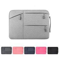 kadın için dizüstü bilgisayar çantası toptan satış-Laptop Çantası Notebook Çantası Durumda Macbook Pro 13.3 15.6 Laptop Için Kol 11 12 13 14 15 inç Kadın Erkek Çanta