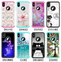 estilete de flores al por mayor-Para Samsung S8 S9 Plus Híbrido a prueba de choques caja de mariposa de gato y mariposa para LG Stylo 4 5 Stylus