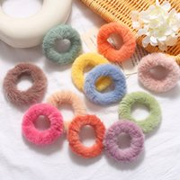 Wholesale beautiful gray hair resale online - Autumn and Winter Korean Simple Beautiful Colorful Plush Rubber Band Sweet Fashion Girl Children s Ponytail Hair Accessories