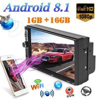 receptor de tv chinês venda por atacado-Car Stereo 7 inch Screen Bluetooth MP5 Player Navegação GPS WiFi USB FM Radio 1 GB + 16 GB Android 8.1 Head Receiver unidade carro dvd