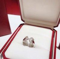 mücevher ayarları yüzük toptan satış-Ayarları Kadınlar için 925 Şerit alyans Stilleri Ayarlanabilir boyut Noel Hediyesi Takı Marka