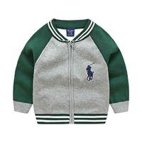 ropa de alta calidad para niños al por mayor-El mejor nuevo top ropa para niños de algodón bebé suéter niños de alta calidad prendas de vestir exteriores suéter de la muchacha niño suéter con cuello en v suéteres capa