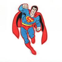 eisen-logo-patch großhandel-Super mann super hero logo stickerei patches nähen eisen auf applique reparatur diy abzeichen patch für kinder kleidung jacke tasche kleidungsstück
