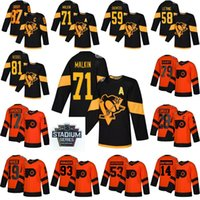 Wholesale penguins malkin stadium series jersey resale online - 2019 Stadium Series Philadelphia Flyers Jersey Carter Hart Claude Giroux Pittsburgh Penguins Sidney Crosby Evgeni Malkin Jersey