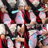 fivela de assento infantil venda por atacado-segurança do carro chave seat Durbale Segurança Criança Segura Buckle Com Chaveiro Anti Safe Lock Buckle