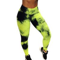 kadınlar için spor kıyafeti toptan satış-Spor Tayt Kadınlar Leggins Yüksek Bel Yoga Tayt Egzersiz Leggins Mujer Floresan Graffiti kadın Clothin