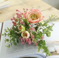 1 Bunch Künstliche Blumenstrauß Seidenblumen Lotus Blumen Kunstblumen Dekor