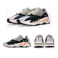 ingrosso marchio kanye west-700 Scarpe da corsa color malva Mens Miglior Runner da onda di qualità 700 Scarpe da ginnastica firmate Kanye West Scarpe da donna Zapatos Hombre Brand