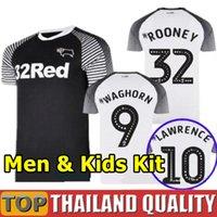 üst kulüp forması toptan satış-Tayland 2019 2020 Derby County Futbol Kulübü Futbol Formalar 32 Rooney futbol forması 19 20 Erkek Çocuk Seti ekipman üniforma Maillots başında set