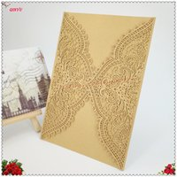 Wholesale marriage invitations cards for sale - Group buy 30pcs cm Paper Hollow Invitation Cards Birthday Party Decorations Supplies Cards Marriage Wedding ZSH820