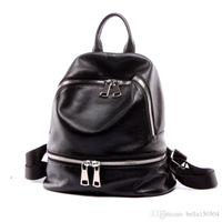 gute qualität handtaschenmarken großhandel-GUTE QUALITÄT Europäische Marke Rucksack Luxus aus echtem Leder Designer Multi-Pocket-Paket Unisex Rucksäcke Handtaschen beliebte Reisetasche