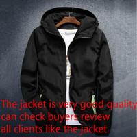 hoodies com zíper para homem venda por atacado-Moda Marca Mens Casacos revestimento do outono Designer revestimento encapuçado com letras Windbreaker Zipper hoodies para homens Sportwear roupa