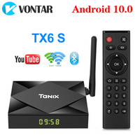 Wholesale streaming tv box for sale - Group buy Tanix TX6S Android TV Box Allwinner H616 Quad Core GB GB Smart Streaming Media Player G WiFi Bluetooth Set Top Box