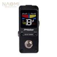 multi-effekt-pedale großhandel-NAOMI AROMA AT-07 Mini Chromatic Tuner Einzelne Gitarre Effektpedal Elektrische Effekte Hochwertige Gitarre Teile Zubehör Neue