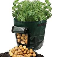 bio-pflanzer großhandel-Neue PE-Säcke Kartoffeln pflanzen Familie Garten Balkon Garten Töpfe mit Bio-Gemüse Kartoffeln Pflanzgefäße Grow Bag
