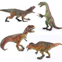 cymbales jouets achat en gros de-Jurassique solide modèle de dinosaure jouet gros tyrans dragon cymbale dragon requin dent en plastique modèle jouet cadeau d'anniversaire