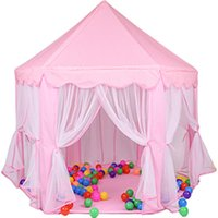 Wholesale children camp tent for sale - Group buy Pastoral Life Children castle yurt indoor dollhouse ocean ball pool girl boy outdoor camping tent