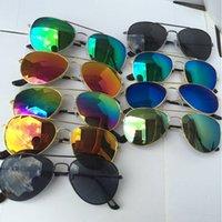 ingrosso occhiali da sole uv bambino-Hot 28 stili Bambini Designer Ragazze Ragazzi Occhiali da sole Bambini Spiaggia Forniture UV Occhiali protettivi Baby Fashion Parasole Occhiali E1000